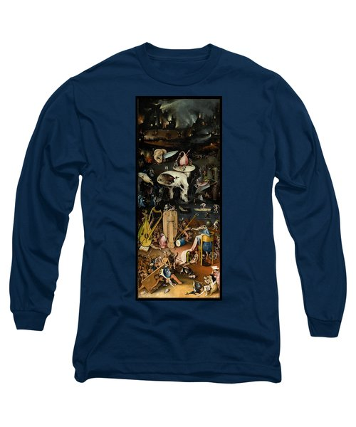 The Garden Of Earthly Delights. Right Panel Long Sleeve T-Shirt by Hieronymus Bosch