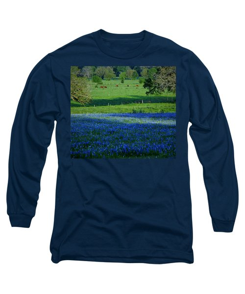 Long Sleeve T-Shirt featuring the photograph The Pastures Of Central Texas by John Glass