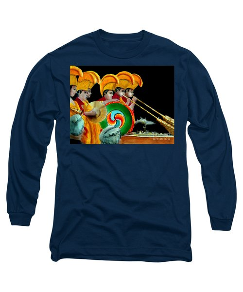 Long Sleeve T-Shirt featuring the painting The Healing Ceremony by Albert Puskaric