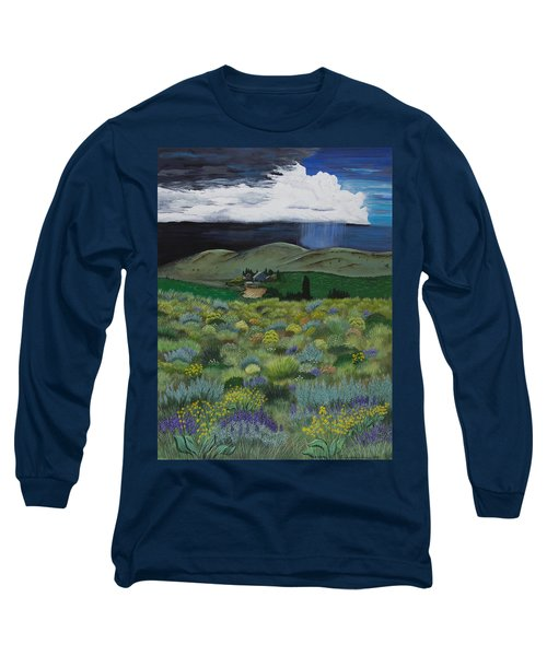 Long Sleeve T-Shirt featuring the painting The High Desert Storm by Jennifer Lake