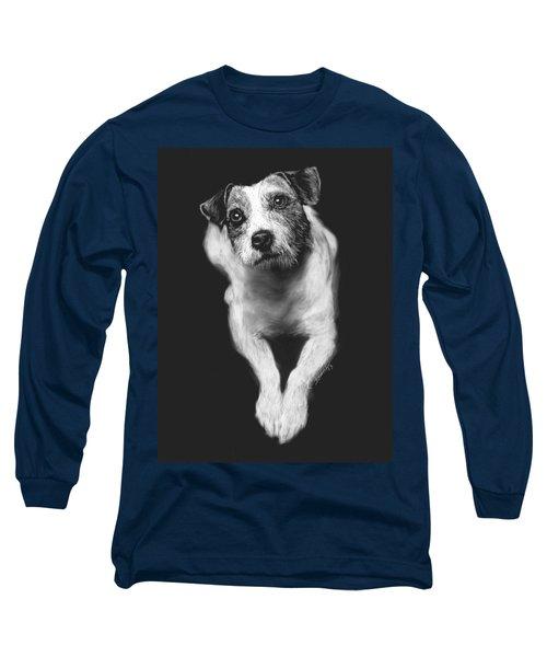 The Jack Russell Stare- Got Ball? Long Sleeve T-Shirt by Rachel Hames
