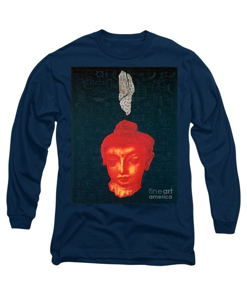 Long Sleeve T-Shirt featuring the painting The Light Of Face_ Sold by Fei A