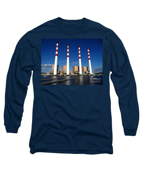 Long Sleeve T-Shirt featuring the photograph The Lilco Towers by Ed Weidman
