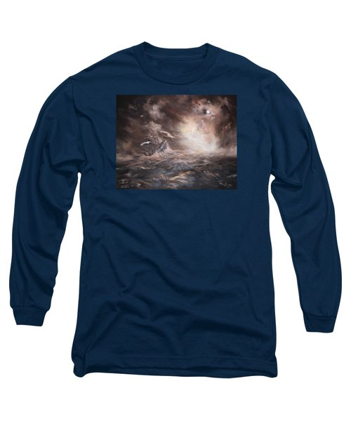 Long Sleeve T-Shirt featuring the painting The Merchant Royal by Jean Walker