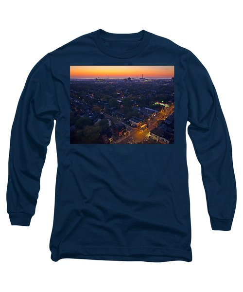 Long Sleeve T-Shirt featuring the photograph The Morning Bus by Keith Armstrong
