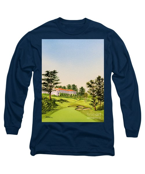 Long Sleeve T-Shirt featuring the painting The Olympic Golf Club - 18th Hole by Bill Holkham