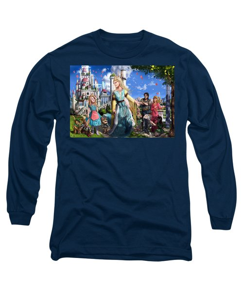 Long Sleeve T-Shirt featuring the painting The Palace Garden  by Reynold Jay