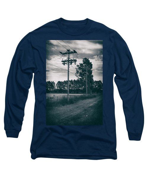 The Power Lines  Long Sleeve T-Shirt by Howard Salmon