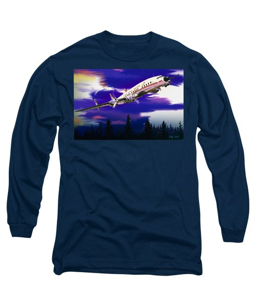 The Queen Of The Fleet Leaving Seattle Long Sleeve T-Shirt by J Griff Griffin