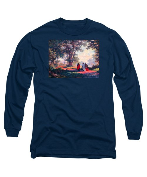 The Road To Emmaus Long Sleeve T-Shirt by Tina M Wenger