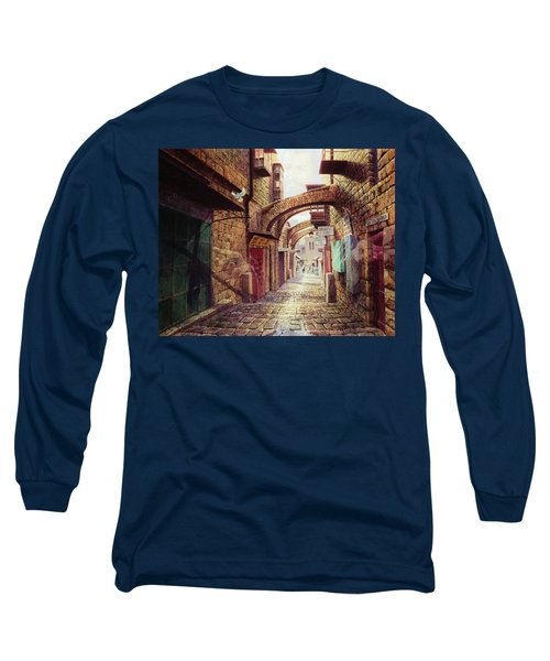 The Road To The Cross  Jerusalem Long Sleeve T-Shirt