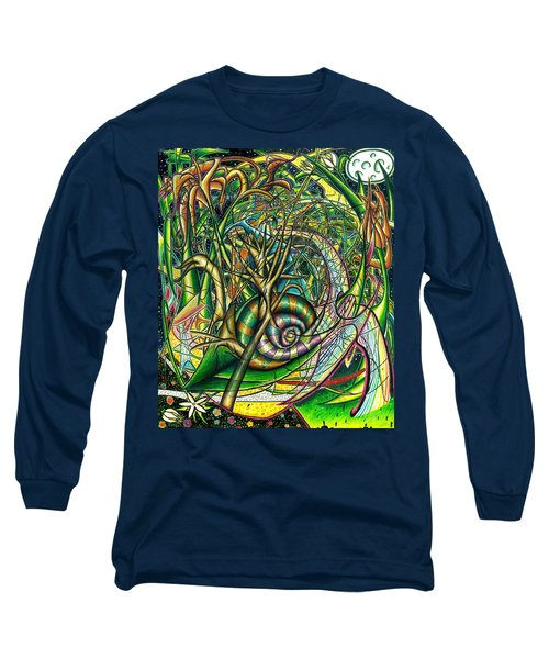 Long Sleeve T-Shirt featuring the painting The Snail by Shawn Dall