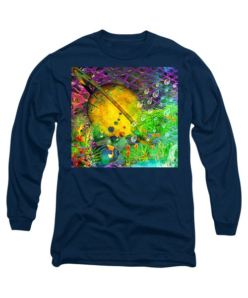 The View From A Moon Long Sleeve T-Shirt by Ally  White