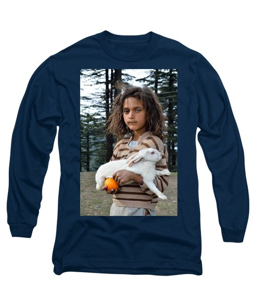 The Village Girl Long Sleeve T-Shirt by Fotosas Photography