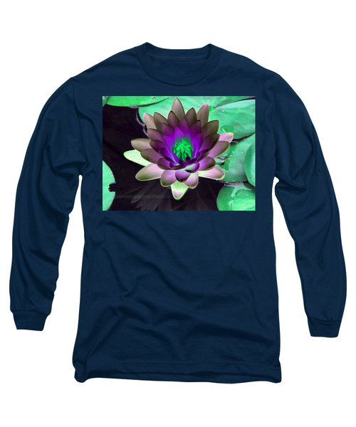 Long Sleeve T-Shirt featuring the photograph The Water Lilies Collection - Photopower 1114 by Pamela Critchlow