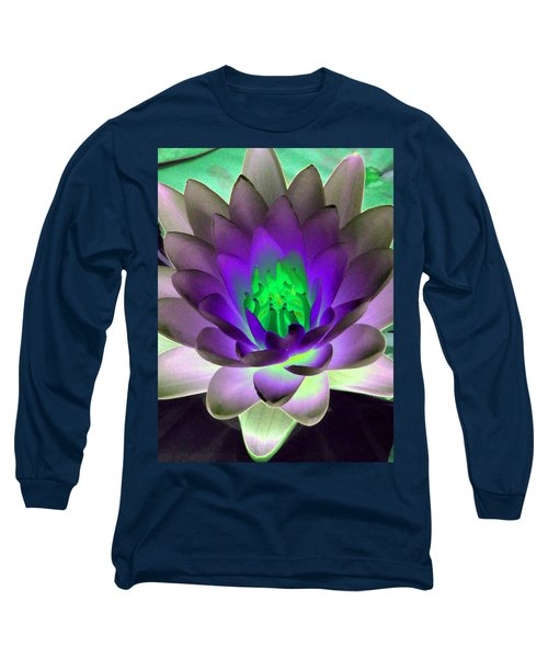 Long Sleeve T-Shirt featuring the photograph The Water Lilies Collection - Photopower 1115 by Pamela Critchlow