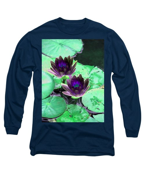 Long Sleeve T-Shirt featuring the photograph The Water Lilies Collection - Photopower 1119 by Pamela Critchlow