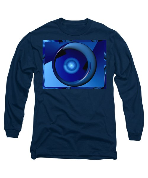 Thinking Of Blue Long Sleeve T-Shirt by Wendy J St Christopher
