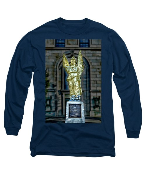 Thomas Wolfe Memorial Angel Long Sleeve T-Shirt by John Haldane