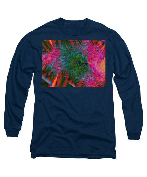 Long Sleeve T-Shirt featuring the digital art Through The Electric Garden by Elizabeth McTaggart