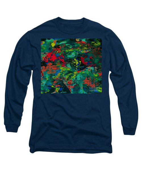 Long Sleeve T-Shirt featuring the painting Tide Pool by Jacqueline McReynolds