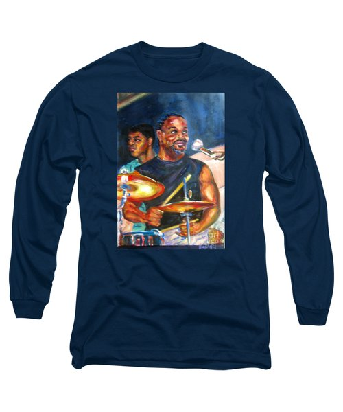 Tiger On Drums Long Sleeve T-Shirt