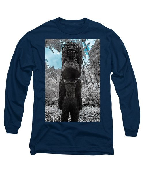 Tiki Man In Infrared Long Sleeve T-Shirt