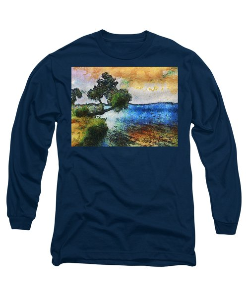 Time Well Spent - Medina Lake Long Sleeve T-Shirt by Wendy J St Christopher