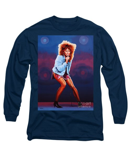 Tina Turner Long Sleeve T-Shirt by Paul Meijering
