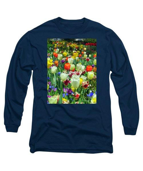 Tiptoe Through The Tulips Long Sleeve T-Shirt by Elizabeth Dow