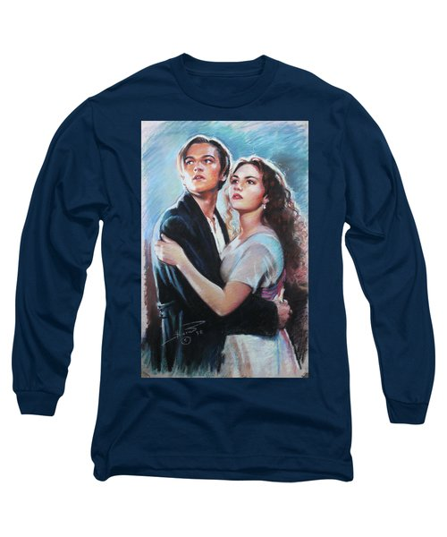 Titanic Jack And Rose Long Sleeve T-Shirt by Viola El