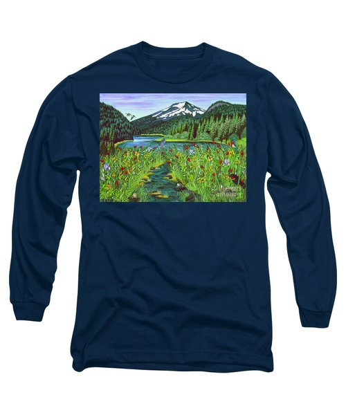 Todd Lake Mt. Bachelor Long Sleeve T-Shirt