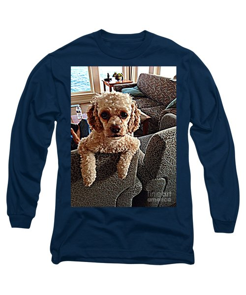 Long Sleeve T-Shirt featuring the photograph Toy Cockapoodle 1 by Richard W Linford