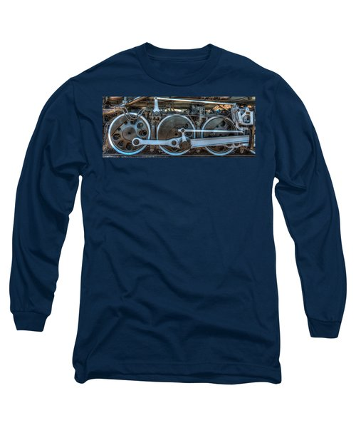 Train Wheels Long Sleeve T-Shirt by Paul Freidlund
