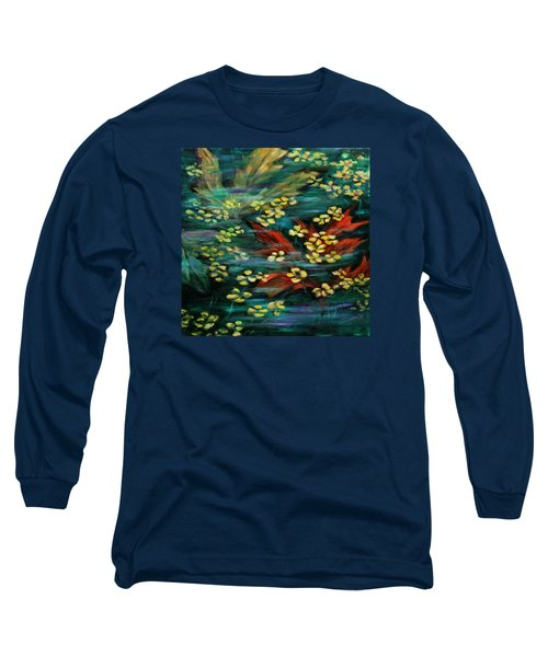 Long Sleeve T-Shirt featuring the painting Transforming... by Xueling Zou