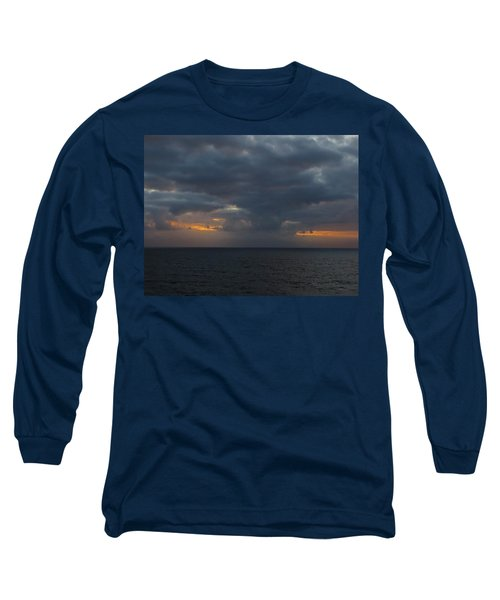 Long Sleeve T-Shirt featuring the photograph Troubled Skies by Jennifer Wheatley Wolf