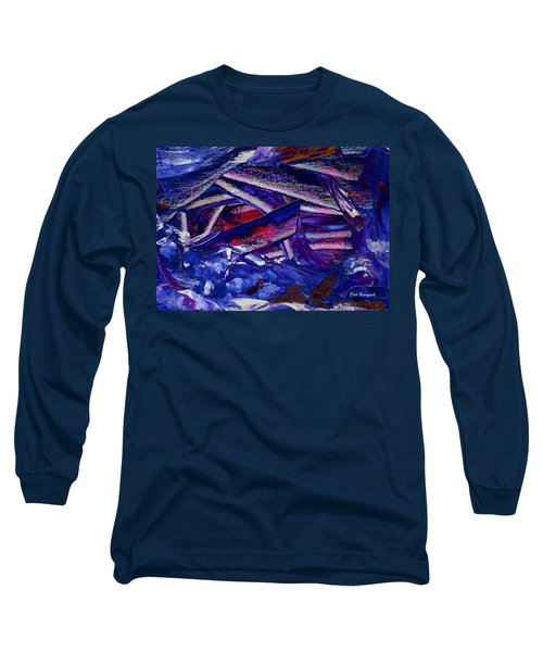Tsunami Long Sleeve T-Shirt by Dick Bourgault