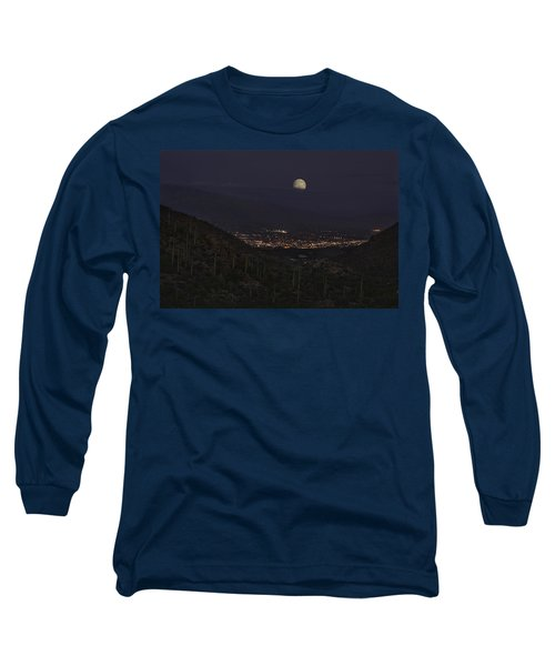 Long Sleeve T-Shirt featuring the photograph Tucson At Dusk by Lynn Geoffroy