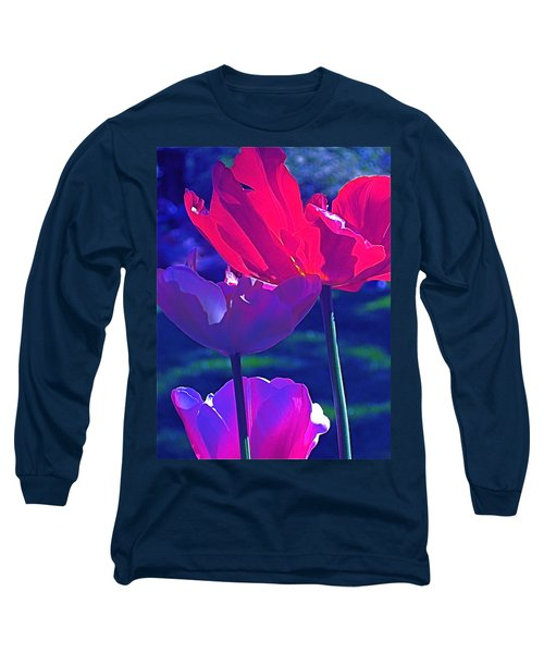 Tulip 3 Long Sleeve T-Shirt by Pamela Cooper