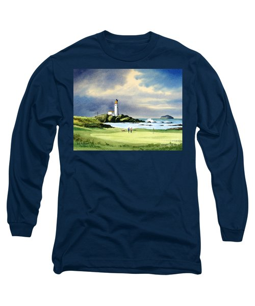 Turnberry Golf Course Scotland 10th Green Long Sleeve T-Shirt by Bill Holkham