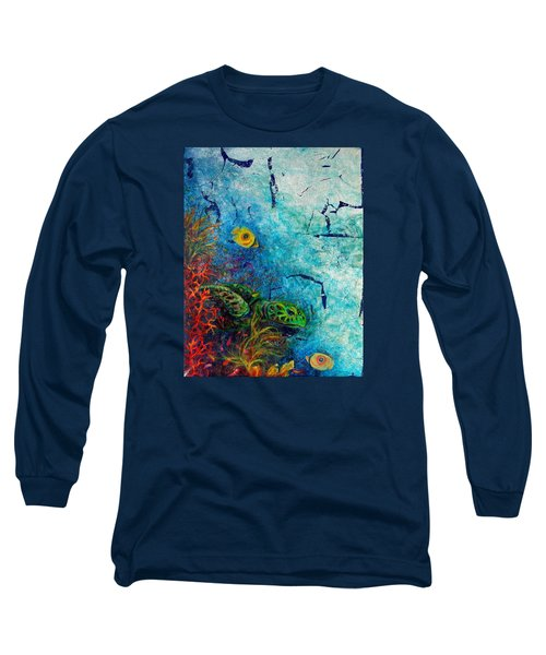 Turtle Wall 1 Long Sleeve T-Shirt by Ashley Kujan