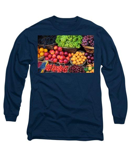 Tuscan Fruit Long Sleeve T-Shirt by Inge Johnsson