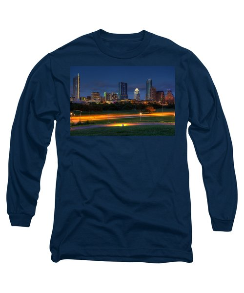 Long Sleeve T-Shirt featuring the photograph Twilight Skyline by Dave Files