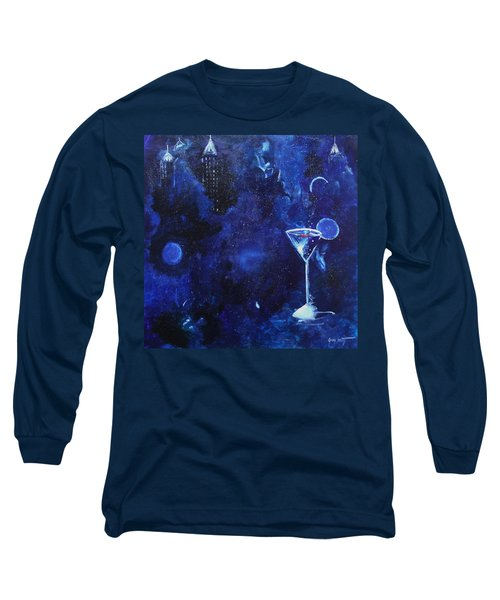 Long Sleeve T-Shirt featuring the painting Twist And An Olive by Gary Smith