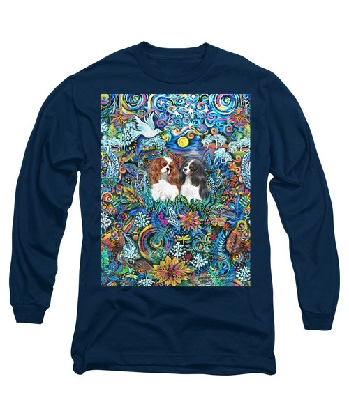 Two Cavaliers In A Garden Long Sleeve T-Shirt