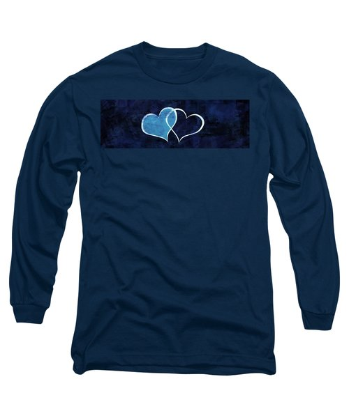 Blue Long Sleeve T-Shirt featuring the digital art Two Will Become One by Aaron Berg