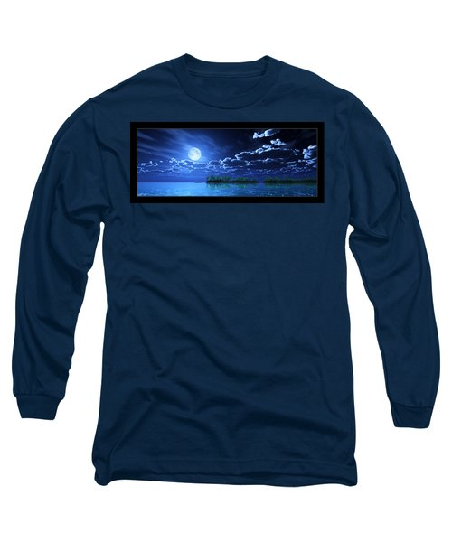 Under A Silvery Moon... Long Sleeve T-Shirt by Tim Fillingim