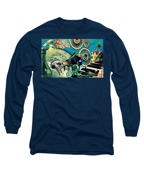 Long Sleeve T-Shirt featuring the digital art Underwater Dreams by Ally  White