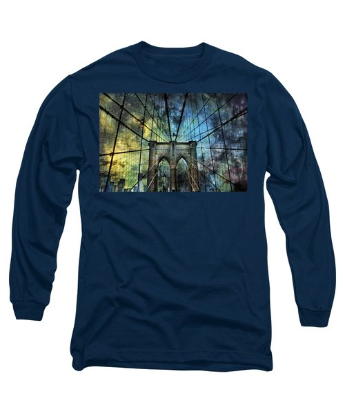 Universe And The Brooklyn Bridge Long Sleeve T-Shirt