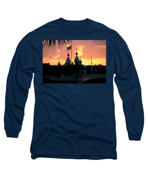 University Of Tampa Minerets At Sunset Long Sleeve T-Shirt